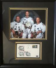 Apollo 11- Crew Signed Envelope Museum Quality Framed