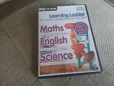 PC CD-ROM LEARNING LADDER MATHS, ENGLISH, SCIENCE YEAR 5 AGES 9 - 10 BNIB