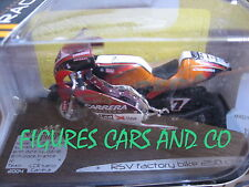 1/18  MOTO GP APRILIA 250 RSV RANDY DE PUNIET SOLIDO EN BOITE