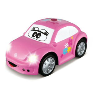 BB Junior My First RC New VW Beetle Car w/Sound/Light Kids/Toddler Toy 18m+ Pink
