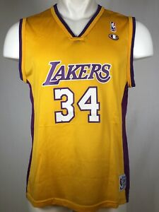 VTG Champion Shaquille O'Neal Los Angeles Lakers Jersey Gold Youth XL 18-20
