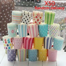 50Pcs Paper Cake Cup Cupcake Cases Liners Muffin Dessert Baking Wedding Party