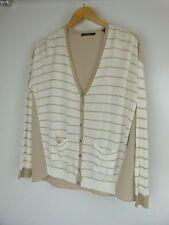 ESPRIT Cardigan Top  Sz S,10  Top/Beige and Cream Stripe