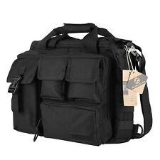 "Men's Nylon Military Tactical Shoulder Bag Multi-Pocket Briefcase 14"" Laptop Bag"