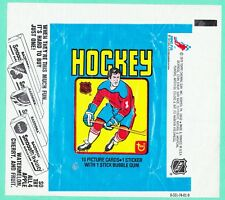 1979 TOPPS HOCKEY CARD WRAPPER  OILERS GRETZKY ROOKIE  BAZOOKA AD  FREE SHIPPING