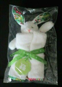 NEW Vera Bradley Baby Bunny Lovey Security Blanket Tutti Frutti Green White