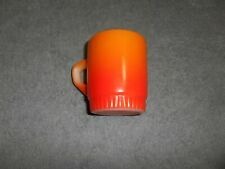(G-20)VINTAGE FIRE KING COFFEE CUP-D HANDLE-ORANGE WITH WHITE BOTTOM