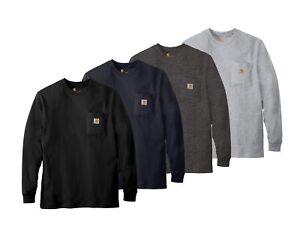 Carhartt K126 Mens Workwear Jersey Pocket Long-Sleeve T-Shirt  Pick Size & Color