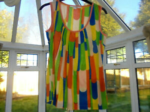Boden Bright Multicolour cotton vest top size 6 wa485 bnwot