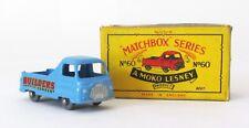 Vintage Lesney Moko Matchbox #60 Morris J2 Pickup Gray Wheels XLNT IN BOX 1958
