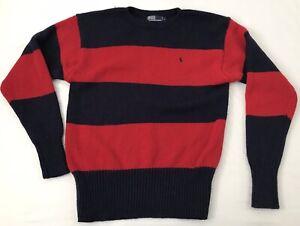70s Red Knitted Sweater Vintage Wool Blend Jumper Retro Crochet Wide Neckline Vtg 1970s Size S-M