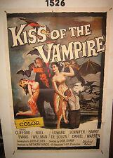 The Kiss of the Vampire Original 1sh Movie Poster '63 monster horror thriller
