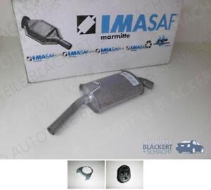 IMASAF ESD Auspuff Endtopf für Ford Escort+Orion 1.4+1.6+XR3i 1983-1990 +Zubehör