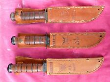 3 KA-BAR MILITARY KNIVES, 2 REISSUE KNIVES AND ONE VIETNAM ERA MARINE KNIFE