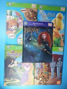 Lot 5 DISNEY Leapfrog Tag Books Brave Merida Tinkerbell Scooby-Doo Tangled