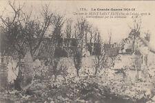 GUERRE 14-18 WW1 PAS-DE-CALAIS MONT SAINT-ELOI 174 un coin après le bombardement