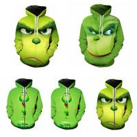 Grinch Hoodies 3D Full Face Men's Sweater Sweatshirt Jacket Pullover Coat Pants