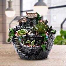 Flower Plants Pot Creative Plants Pots Mini Fairy Garden Sweet House Decoration