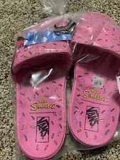 NEW Vans The Simpsons D'ohnut Slide On Mens Sandals Size 10 ReadyTo Ship In Hand