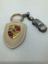 Porsche Portachiavi Stemma Bianco pelle Key Holder con Stemma