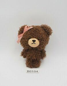 "Bear's school Jackie B0104 Keychain Mascot 3.5"" Sekiguchi Plush Toy Doll Japan"