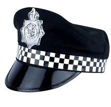 Policeman Cap Peak Police Cop Hat For Adult Fancy Dress Costume Accessory