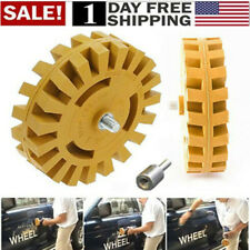 "Decal Removal Eraser Wheel w/ Power Drill Arbor Adapter 4"" Rubber Pinstripe US!"