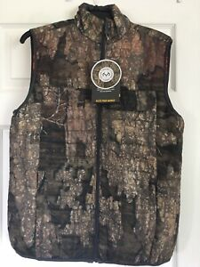 Reversible Browning Quilted Camouflage/Orange Vest Size S