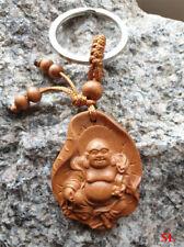 Porte clé Bouddha  Bonheur Santé en bois