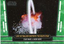 Star Wars 40th Anniversary Green Base Card #26 Luke Skywalker Destroys the Deat