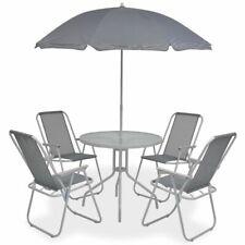 vidaXL 6 Piece Outdoor Dining Set - Grey