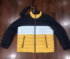 New Mens Tommy Hilfiger Packable Jacket Blue Size XL