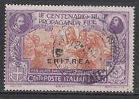 ITALY - ERITREA  Propaganda Fide 50 cent. Sassone n.63  cv 110$ used very fine