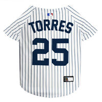 GLEYBER TORRES #25 Yankees MLBPA Officially Licensed Pinstripe Dog Jersey
