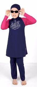 Kid Child Girl Islamic Muslim Modest Swimwear Swimsuit Beachwear Burqini Burkini
