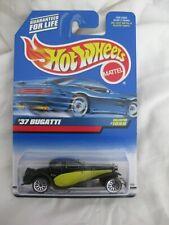 Hot Wheels 1999 Mainline Series, '37 Bugatti Black Variation Mint In Card