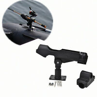 Adjustable Side Rail Mount Kayak Boat Fishing Pole Rod Holder Tackle Kit Black *