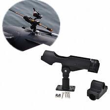 Adjustable Side Rail Mount Kayak Boat Fishing Pole Rod Holder Tackle Kit BlackLT