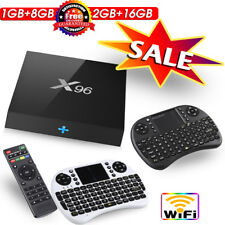 X96 Smart TV Box 1GB/2GB RAM 8GB/16GB Android 6.0 Quad Core 3D Mini Tastiera