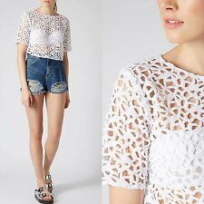 Topshop Patternless Casual Crew Neck Tops & Shirts for Women