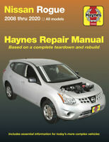 Nissan Rogue Haynes Repair Manual SHOP SERVICE BOOK 2008-2020