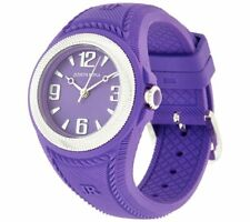 JUDITH RIPKA STAINLESS STEEL PURPLE SILICONE MONTAUK WATCH QVC $146