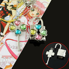 Shugo Chara Hinamori Amu open Key & lock couples Necklace Cosplay Collection