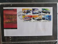 2002 AUSTRALIA AUSTRALIAN MOTOR RACING SET 6 STAMPS FDC FIRST DAY COVER