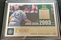 2003 Topps Future Phenoms Relics Chris Snelling #FP-CS -Baseball Bat