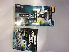 GILLETTE MACH 3 RAZOR ONE HANDLE WITH 5 REFILL CARTRIDGE BLADES