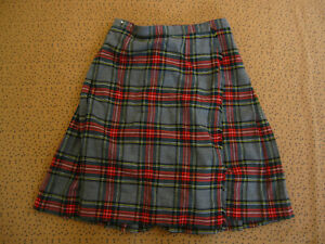 Jupe ecossaise Kilt Barrie Vintage Femme Made in Scotland Wool 100 % Laine - 16