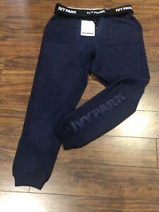 IVY PARK UK Womens Large Navy Blue Sweatpants Sweats Joggers Activewear Sexy NWT