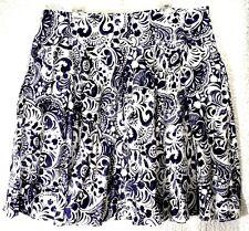 Lauren Ralph Lauren LRL Indigo & White Circle Flare Skirt Women Plus 18 W