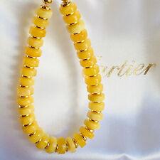 14K Gold Filled Baltic Amber Bracelet Russian Genuine Butterscotch Egg Yolk 老琥珀